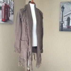 BB Dakota knit fringe Cardigan